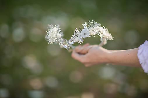"""Kvetinová tiara """"cez tvoje dlane"""""""