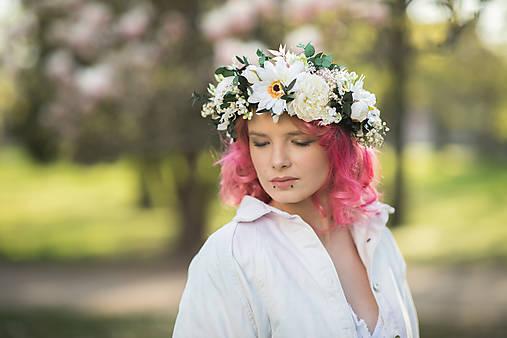 """Kvetinový boho venček """"rozkvitnuté ráno"""""""