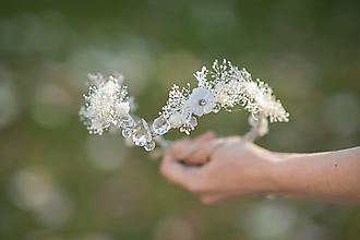 """Ozdoby do vlasov - Kvetinová tiara """"cez tvoje dlane"""" - 13379993_"""