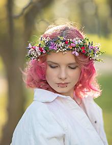 """Ozdoby do vlasov - Kvetinový venček """"lúčne pošepky"""" - 13380018_"""