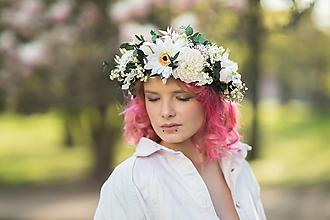 """Ozdoby do vlasov - Kvetinový boho venček """"rozkvitnuté ráno"""" - 13380150_"""