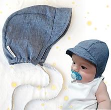 Detské čiapky - Ultraľahký čepček blue - 13382287_