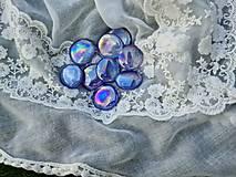 Komponenty - Kabošon 30-40mm sklenený perleťový (Kabošon kameň perleť fialová) - 13379683_