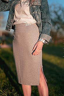 Sukne - Úzka sukňa šedá - 13381662_
