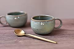 Nádoby - Mini espresso šálka z kameniny (Šáločka s podtanierikom) - 13381313_