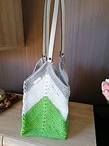 Kabelky - Hačkovaná taška / kabelka - 13379431_