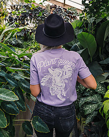 Tričká - Plant Queen - fialové GOTS tričko - 13380361_