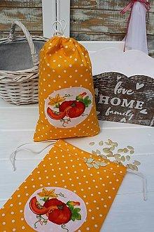 Úžitkový textil - Tekvicové vrecúško - 13379375_
