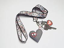 Kľúčenky - Textilná šnúrka s karabínkou - zdravotníci - 13380817_