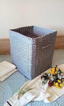 Košíky - Kúpeľňový kôš MARCELA - 13380310_