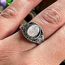 Prstene - Antique Silver Rose Quartz Ring / Vintage prsteň s ruženínom - 13383177_