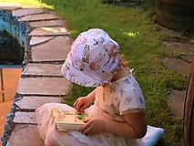 Detské čiapky - Detský ľanový čepček indiana - 13382542_