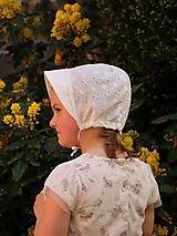 Detské čiapky - Letný detský čepiec Viktória smotanový - 13384125_