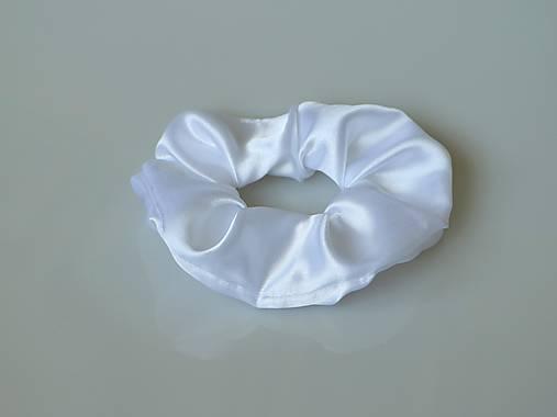 Scrunchies gumička saténová (biela)