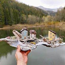 Dekorácie - Vintage domčeky ,Zabudnutý ostrov,, - 13383546_