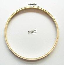 Galantéria - Kruh na vyšívanie, drevený, (13,5 cm) - 13384334_