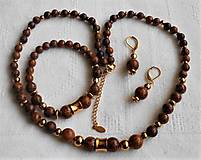 Sady šperkov - Jaspis- chameleón - 13383764_