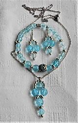 Sady šperkov - Blankytný krištáľ - 13383820_