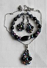 Sady šperkov - Ako dúha- hematit achát - 13383891_