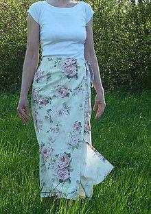 Sukne - Zavinovacia sukňa - 13385146_