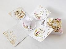 Krabičky - Exploding box - darčeková krabička svadobná - 13382561_