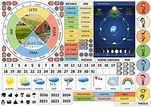 Hračky - Magnetický kalendár - 13384768_