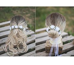 Ozdoby do vlasov - 2v1: trištvrte venček / kvetinový venček do drdolu - 13382667_