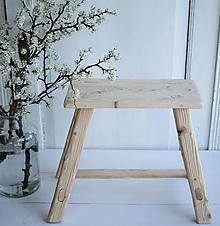 Nábytok - stolček, bledé drevo - AKCIA - 13385557_