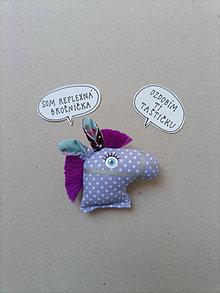 Odznaky/Brošne - Koník - reflexná brošňa - 13384994_