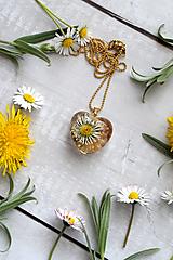 Náhrdelník Sedmokráska srdce perleť 3034 A CHO