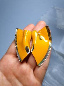 Náušnice - Recyklované CD - napichovacie náušnice - 13385852_