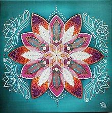 Obrazy - Mandala...Oslava radosti, krásy a lásky k životu - 13382901_