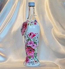Nádoby - Darčeková fľaša s vlastným nadpisom Ružičková - 13384631_