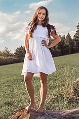 Šaty - Letné madeirové šaty na dojčenie biele - 13383212_