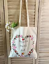 Iné tašky - ♥ Plátená, ručne maľovaná taška ♥ - 13382367_