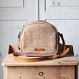 Kabelky - Dámska kožená kabelka *Honeycomb* - 13382754_