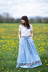 Sukne - sukňa Sky blue - 13385747_