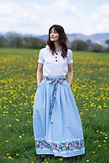 Sukne - sukňa Sky blue - 13385756_