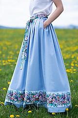 Sukne - sukňa Sky blue - 13385757_