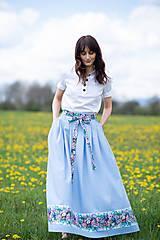 Sukne - sukňa Sky blue - 13385766_