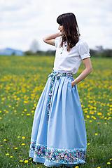 Sukne - sukňa Sky blue - 13385775_
