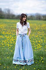 Sukne - sukňa Sky blue - 13385812_