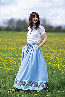 Sukne - sukňa Sky blue - 13385769_