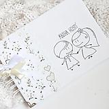 Papiernictvo - Svadobná kniha hostí - na želanie - 13384804_