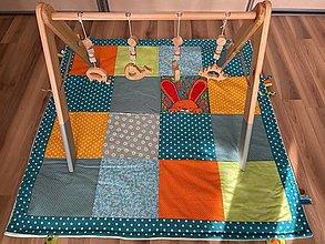Hračky - Drevená hrazdička pre bábätko - 13385599_