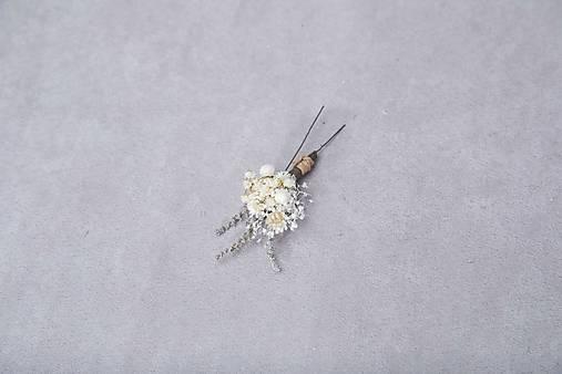 """Kvetinové vlásenky """"roznežnelá"""""""