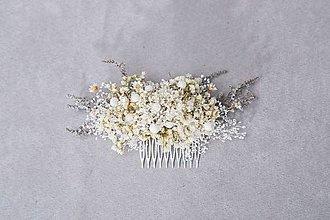 """Ozdoby do vlasov - Kvetinový hrebienok """"roznežnelá""""  - väčší  - 13384693_"""