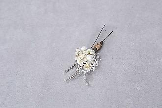 """Ozdoby do vlasov - Kvetinové vlásenky """"roznežnelá"""" - 13384718_"""
