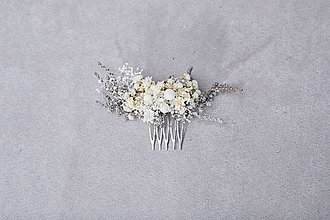 """Ozdoby do vlasov - Kvetinový hrebienok """"roznežnelá""""  - menší - 13384729_"""