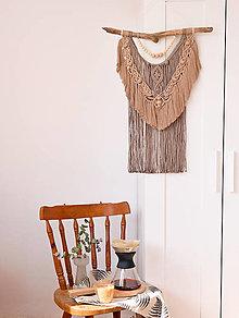 Dekorácie - Makramé dekorácia - Kávová - 13382529_